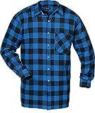 Flanellhemd gewebt extralang blau/sw Größe: 3XL Farbe: blau