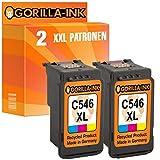 Gorilla-Ink® 2 Patronen XXL remanufactured für Canon CL-546 XL Pixma IP2850 MG2455 MG2500 Series MG2550 MG2555 MG2940 MG2950 S MG3050 MG3051 MG3052