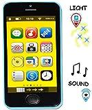 Smartphone - Handy mit 40 SOUND´s & Musik & Licht - ' BLAU ' - für Kinder / Jungen & Mädchen -...