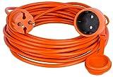Verlängerungskabel Verlängerung Strom-Kabel ORANGE 10 15 20 25 30 40 50 m (10.0 Meter)