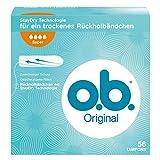O.b. Original Super Tampons mit geschwungenen Rillen, für zuverlässigen Schutz ideal für starke Tage, 1er Pack (1 x 56 stuck)