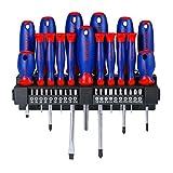 WORKPRO 37-tlg. Schraubendreher-Set mit Bitsatz, für Rauchmelder, Reinigungswerkzeuge, Tapeten, Akkuschrauber, Werkzeugkoffer, Gartenwerkzeug