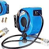 Druckluftschlauch Aufroller automatisch【10m】1/4' Anschluss - Schlauchtrommel Wandschlauchhalter Schlauchaufroller Druckluftschlauch-Aufroller