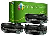 Printing Pleasure 3 Toner kompatibel für HP Laserjet P2050 P2053 P2053D P2053N P2054 P2054D P2054N P2055 P2055D P2055DN P2055X P2056 P2056D P2056N P2057 P2057D P2057N Canon LBP-6300DN LBP-6310DN LBP-6650DN LBP-6670DN LBP-6680X MF-5840DN MF-5880DN MF-5940DN MF-5980DW MF-6140CN MF-6180CW - Schwarz, hohe Kapazität