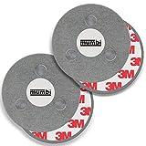 mumbi 2er Set Magnetbefestigung für Rauchmelder Magnet Befestigung für glatte Flächen (NICHT für Rauhfaser oder losen Putz)