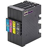 4er Set - Druckerpatronen kompatibel zu RICOH GC41 | je 1x schwarz cyan magenta gelb | geeignet für...