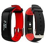 ROGUCI 0.86 'OLED Fitness Armband Tracker Uhr Handgelenk,Smartband mit Puls-und Blutdruck Monitor...