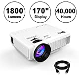 DR.Q 1800 Lumens Beamer, 4' Mini Projektor mit maximal 170' Bildgröße, 40000 Stunden, 1080P...