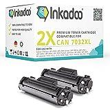 Inkadoo Toner kompatibel für Canon LBP-2900, 3000, HP Laserjet 1010, HP Laserjet 1018, HP Laserjet 1020, HP Laserjet 3030 ersetzt Canon 703 - Premium Drucker-Kartusche – Schwarz XL – 2X 3.000 Seiten