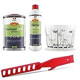 Epoxidharz-Set: 1 kg Epoxidharz Resinpal 2301 + 0,5 kg Härter + Mischbecher + Rührstab