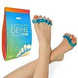 Zehenspreizer & Zehentrenner, Yoga für Füße, Set, Trenner für Hallux, Vorbeugung von Schmerzen und Entspannung, fünf Zehen, Ballenschutz, für Damen, Herren, Silikon Soft Gel