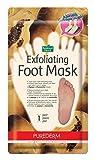Purederm Fußpeeling-Maske, mit Papaya & Kamillen-Extrakt, Sockenartige Fußpeeling-Maske, entfernt Schwielen und abgestorbene Hautzellen in nur 2 Wochen,  1 Paar