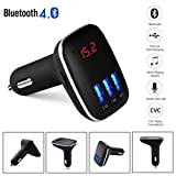 Xshuai Hochleistungs-Auto Bluetooth 4.0 Auto-Satz Freisprecheinrichtung LCD MP3-Player Radio FM Transmitter Wireless Bluetooth USB / SD für iPhone 7 6S 6 Plus 5S SE 5, iPad, HTC, Galaxy Note Edge, Motorola, Blackberry, MP3 Players, PDAs, Handys. (Schwarz)