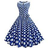 50er Vintage Kleider, Loveso  Damen Vintage Polka Dots A-linie Ohne Arm Rockabilly Kleid Cocktailkleider Swing Kleider 1950er Retro Sommerkleid