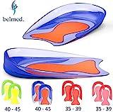 1 Paar Fersensporn Einlagen - Gel Fersenkissen - Schuheinlagen aus Medizinischem Silikon - Fersenpolster - Fersensporn - Gelkissen - Geleinlagen - Plantarfasziitis - Einlagen - fersensporn einlegesohlen - (Rot/Rot - Größe 35 - 39)