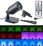 Lunartec Sternenprojektor: Laser-Projektor mit 12 LEDs, 8 Licht-Effekte, Timer, Fernbed, IP65...