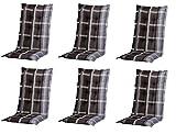 6 x 8 cm Luxus Hochlehner 'B 255', grau schwarz kariert