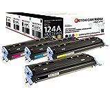 4 Original Reton Toner kompatibel ersetzen Q6000A Q6001A Q6002A Q6003A 124A HP Color Laserjet 1600 2600DN 2605DTN CM1015 CM1015MFP CM1017 CM1017MFP produziert in Anlehnung an DIN33870-1