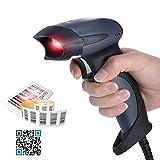 Aibecy 2D USB Verdrahtet Laser Barcodescanner, Laser Handscanner Lesegerät zum Mobile Zahlung, Computer Bildschirm Scanner, Unterstützung QR, PDF417 und DataMatrix Code