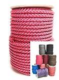 30m Rolle 8 mm \ POLYPROPYLEN-SEIL\ PP-Seil \ verschiedene Farben Flechtleine Tau-werk Reepschnur Festmacher Schnur Universalseil (pink)