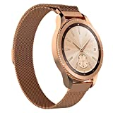 TopTen für Samsung Galaxy Watch, Milanaise-Loop Ersatz Zubehör Armband Armband Armband für Samsung Galaxy Watch Fitness Smart Watch 42 mm rose gold