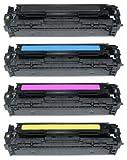 Prestige Cartridge 131X 131A CRG-731 4-er Set Toner kompatibel für HP LaserJet Pro 200 Color M251n, M251nw, MFP M276n, MFP M276nw, Canon LBP-7100CN, LBP-7110CW, MF-8230CN, MF-8280CW