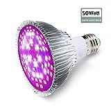 SOLMORE E27 LED Pflanzenlampe Pflanzenleuchte Pflanzen Lampen Grow Wachsen Lichter Pflanzenlicht Leuchtmittel Licht für Gewächshaus Blumen Gemüse Garten Balkon P20 50W