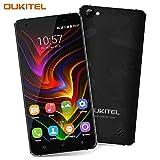 Oukitel C5 Pro Prepaid Handy Dual SIM 5 Zoll Smartphone ohne Vertrag 16GB 2GB RAM Android 6.0 Dual Kameras 5MP+8MP Handy 2 Simkarten mit GPS Bluetooth-Schwarz