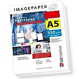 TATMOTIVE Imagepaper 100g/qm A5, das stärkere Briefpapier, brillante Drucke für alle Drucker, 500...