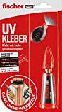 fischer UV KLEBER 4 g - Klebt mit Lichtgeschwindigkeit fast alle Materialien, flexible Härtezeit, mit UV-Lampe, transparent - 2 Teile - Art.-Nr. 545866