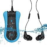 8GB Clip Wasserdichter MP3 Player mit wasserdichtem Kopfhörer, perfekt für Schwimmen, Laufen und...