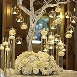 Hängend Kristall Glas Kerzenständer Kreative Haus Hängende Glasball Romantische Kerzenständer Hochzeit / Geburtstag / Fest Deko (18 Pcs/set)