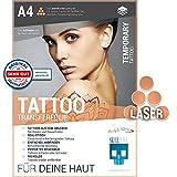 SKULLPAPER Tattoo-Transferfolie FÜR DIE HAUT - zum aufkleben und selbst gestalten - für...