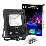 LE 10W RGB Fluter Mit Fernbedienung, LED Flutlicht, Farbwechselhafte LED Sicherheitsleuchte, 16...