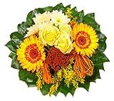 Dominik Blumen und Pflanzen, Blumenstrauß  'Sonnenschein' mit gelben Rosen