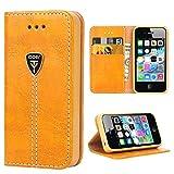 iDoer iPhone 4S Hülle , Hochwertig handyhülle iPhone 4 mit klappe tasche handyhuelle schutzhülle...