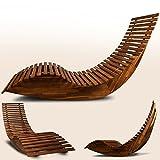 Schwungliege ✔ FSC®-zertifiziertes Akazienholz ✔ Wippfunktion - Gartenliege Sonnenliege Relaxliege