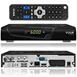 Vuga Combo Full HDTV H.265 digitaler Satelliten DVB-C/T2 Receiver inkl. Wlan Stick (IPTV, Apps,...
