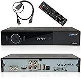 Anadol ADX HD 444 HD HDTV digitaler Satelliten Sat-Receiver (HDTV, DVB-S2, HDMI, 2X USB 2.0, Full HD 1080p, YouTube) [vorprogrammiert für Astra Hotbird Türksat ] inkl. HDMI Kabel – schwarz
