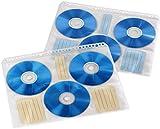 Hama CD-/DVD-/Blu-ray Hüllen (mit 60 Indexkarten zum Beschriften, Archivierung, geeignet für DIN A4 Ordner) 10 Hüllen für je 6 CDs/DVDs/Blu-rays, transparent