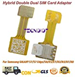 TECNOIOT Hybrid Dual SIM Card Adapter Micro SD Nano SIM Extension Adapter for Android |Dual SIM Nano...