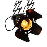 barcelonaled lv231 Lampe Vintage ausziehbar schwarz matt Deckenpendelleuchte (in Form von Kino...