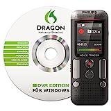 Philips DVT2700 Digitales Diktiergerät inkl. Spracherkennungs-Software f. Windows, kompaktes Aufnahmegerät, mp3 Recorder, Farbdisplay, 4 GB Speicher, USB-Anschluss, Plug & Play, Anthrazit