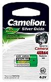 Camelion 14051444 Kamera Spezial Batterie, silber-Oxid, 4SR44, 1er-Pack chrom