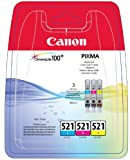 Canon CLI-521 2934B010AA Tintenpatronen Multipack (cyan, magenta, gelb)