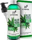 ArtNaturals Aloe Vera Gel Kaltgepresst - (12 Fl Oz / 354ml) - 100% Naturrein - Feuchtigkeitspflege für Haut und Haar - Für Sonnenbrand, Hautreizungen, Insektenstiche - After Sun