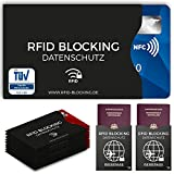 TÜV geprüfte RFID Blocking NFC Schutzhüllen (12 Stück) für Kreditkarte, Personalausweis,...