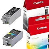 Multipack von Canon für Pixma IP 100 ( 2x Patronen, Color + Black) IP100 Druckerpatronen, 1x BK: 9,3 ml und 1x Col: 13 ml