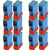 12 ( 6 Set) Colour Direct BCI-21 / BCI-24 Schwarz Und Colour Kompatibel Druckerpatronen Ersatz für Canon PIXMA iP iP1000, iP1500, iP2000, MP110, MP130, 200, 200X, 300, 330 Photo, 250, 320, 350, 450, 450X, 455, 470D, 475D, Ersatz für Canon SmartBase MP 360, 370, 390, 190, 200