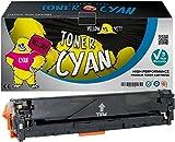 Yellow Yeti Cyan Premium Toner kompatibel für HP LaserJet Pro 200 Color MFP M276nw M276n M251nw M251n CP1525n CP1525nw CM1415fn CM1415fnw CM1312 CM1312nf CM1312nfi CP1215 CP1217 CP1514n CP1515n CP1518ni Canon i-SENSYS LBP5050 LBP5050n LBP7100Cn LBP7110Cw MF623Cn MF628Cw MF8030Cn MF8040Cn MF8050Cn MF8080Cw MF8230Cn MF8280Cw [3 Jahre Garantie]